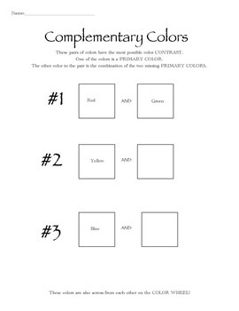 Complementary Color Discovery Sheet