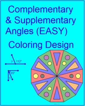 Complementary and Supplementary Angles B (EASY/HARD)  - 2