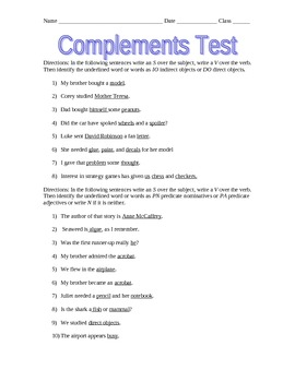 Complements Test
