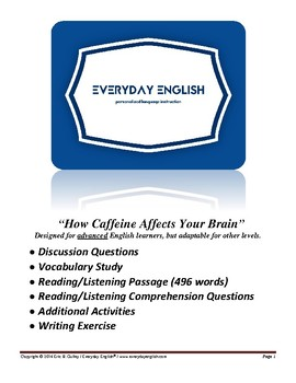Complete Adult ESL Lesson (How Caffeine Affects Your Brain)
