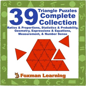 Complete Collection Triangle Puzzles for Middle School Mat