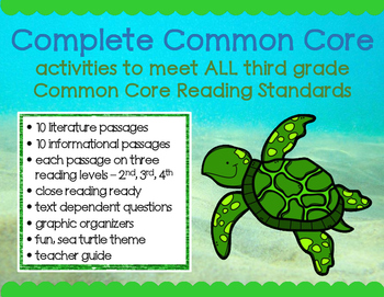 Sea Turtles: Passages to Meet ALL Third Grade Standards