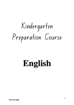 Entire Year of English For Pre-Kindy
