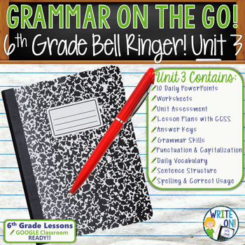 GRAMMAR & VOCABULARY PROGRAM - 6th Grade - Standards Based