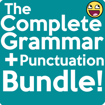 Complete Grammar and Punctuation Worksheet Packet Bundle