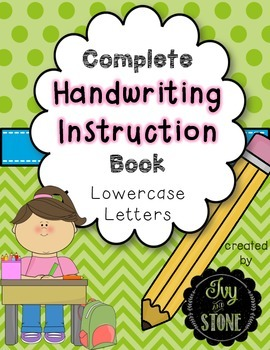 Complete Handwriting Instruction Book for Lowercase Letters