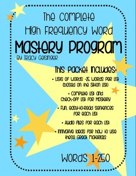 Complete High Frequency Word Mastery Program