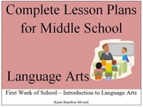 Complete Language Arts Lesson Plans: First Week