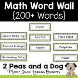 Math Word Wall Lemonade Theme
