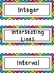 Math Word Wall Rainbow Theme