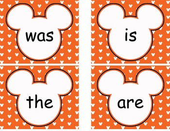 Complete Mickey themed Word Wall Bundle **** Orange
