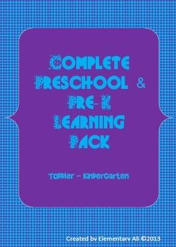 Complete Pre-K to Kindergarten Learning Set (Common Core aligned)