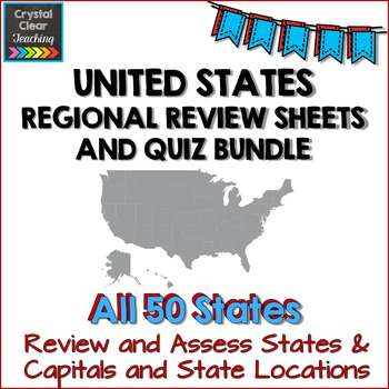 Complete Regions of the United States Review Sheets and Qu