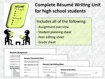 Complete Resume Writing Unit (MS Word)