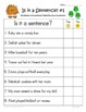 Complete Sentences: 2nd-3rd Grade Common Core Differentiat