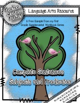 Complete Sentences:  Build a Complete Sentence with a Subj