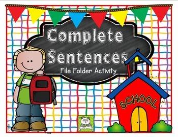 Sentences File Folder Activity (CC Aligned)
