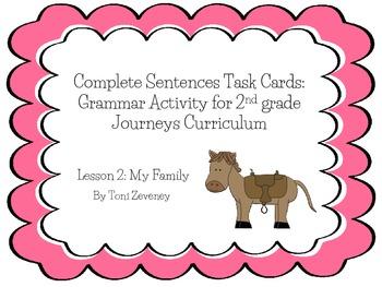 Complete Sentences Task Cards For Journeys Grade 2