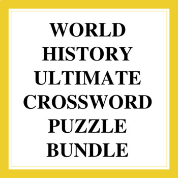 Complete Set of World History Crossword Puzzles