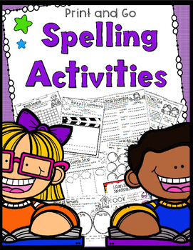 Spelling Activities - No Prep - Use Your Own Words - 10, 1