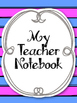 Complete Teacher's Notebook Kit! Planner Arc Binder Notebo