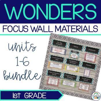 Complete Wonders Focus Wall Materials {1st Grade}