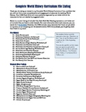 Complete World History Curriculum File Listing