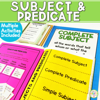 Complete & Simple Subject & Predicate Unit Posters Task Ca