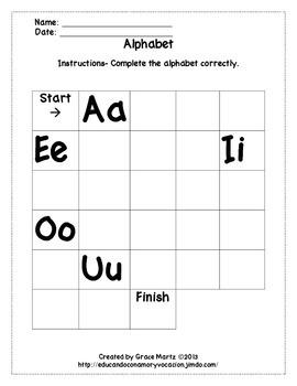 Complete the alphabet