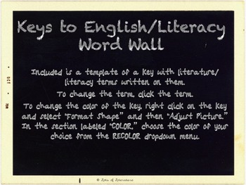 Completely Customizable Interactive Word Wall Posters: Key
