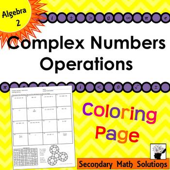 Complex Numbers Operations Coloring Activity