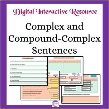 Complex and Compound-Complex Sentences: Google Slides Activities