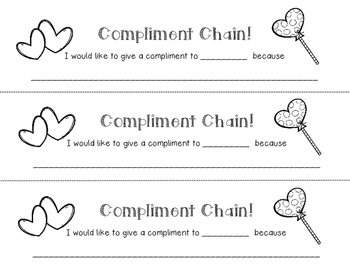 Compliment Chain Links - Student Appreciation / Praise / F