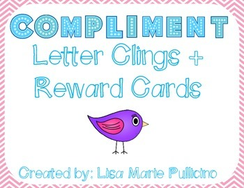 Compliment Reward Letter Clings and Cards