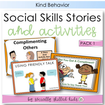SOCIAL SKILLS: Friendship Behaviors~ Story + Activity Pack 1