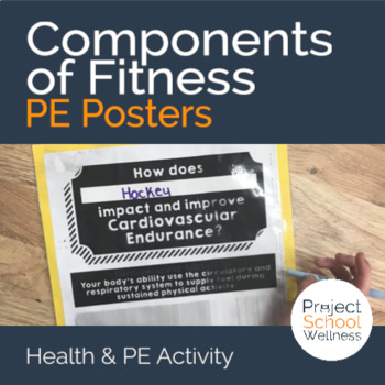 Components of Fitness - PE Activity Posters (Middle School PE)