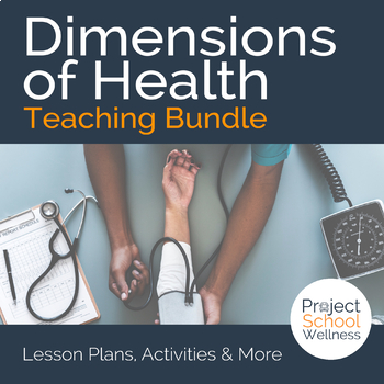 Components of Health Worksheets (Middle School Health, Hea