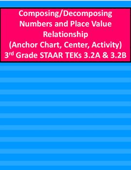 Compose/Decompose Numbers/Place Value Relationship Activit