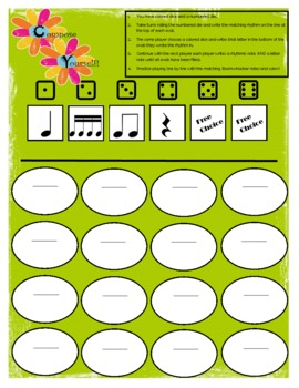 Compose Yourself Composition/Dice Game with Boomwhackers!