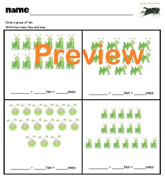 Compose and Decompose Numbers 11-19 ERIC CARLE, Place Valu