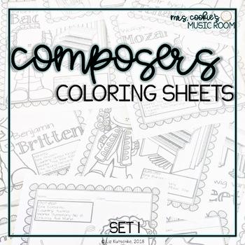 Composer Coloring Sheets: Set 1