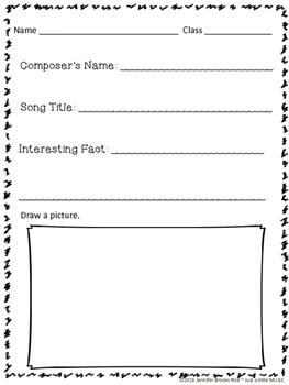 Composer Facts/Listening Guide Worksheet