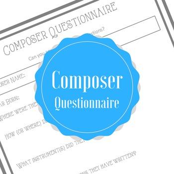 Composer Questionnaire