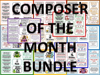 Composer of the Month BUNDLE-12 Bulletin Boards