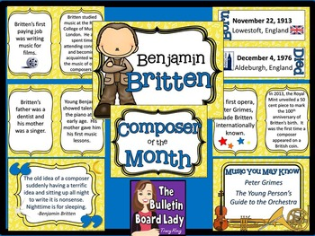 Composer of the Month Benjamin Britten-Bulletin Board and