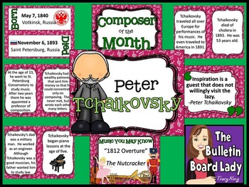 Composer of the Month Tchaikovsky Bulletin Board and Writi