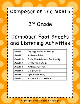 Composer of the Month Yearlong Unit- 3rd Grade
