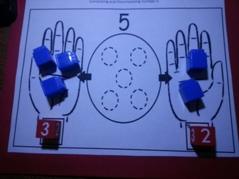 Composing Decomposing Number 5 Activities Eng and Spanish