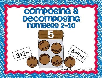 Composing & Decomposing Numbers 2-10 ~Cookie Jar Version~