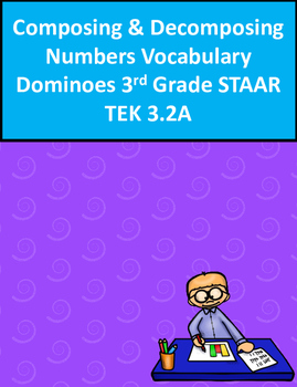 Composing/Decomposing Numbers Vocabulary Dominoes 3rd Grad